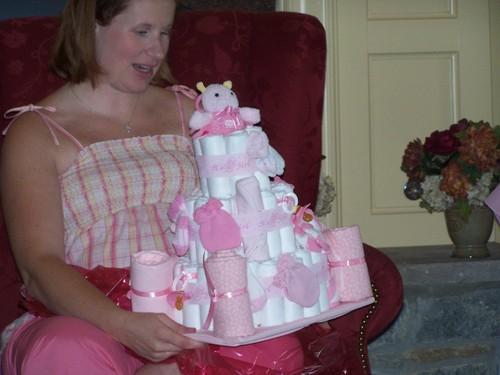 A Diaper Cake!