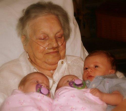Grandmom, with her newest GREAT-Grandchildren!
